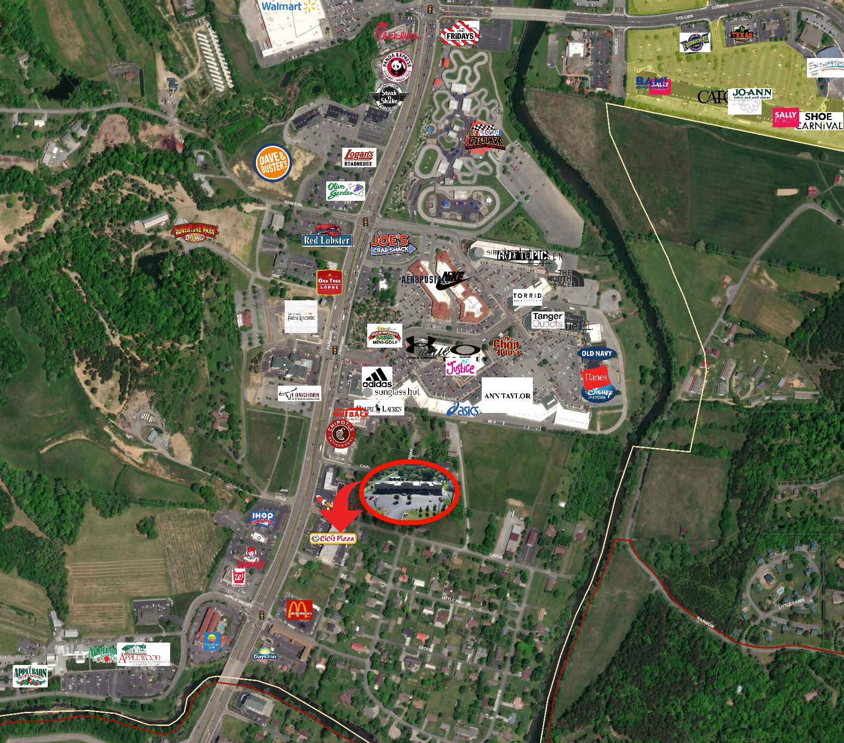 Business Map Sevierville