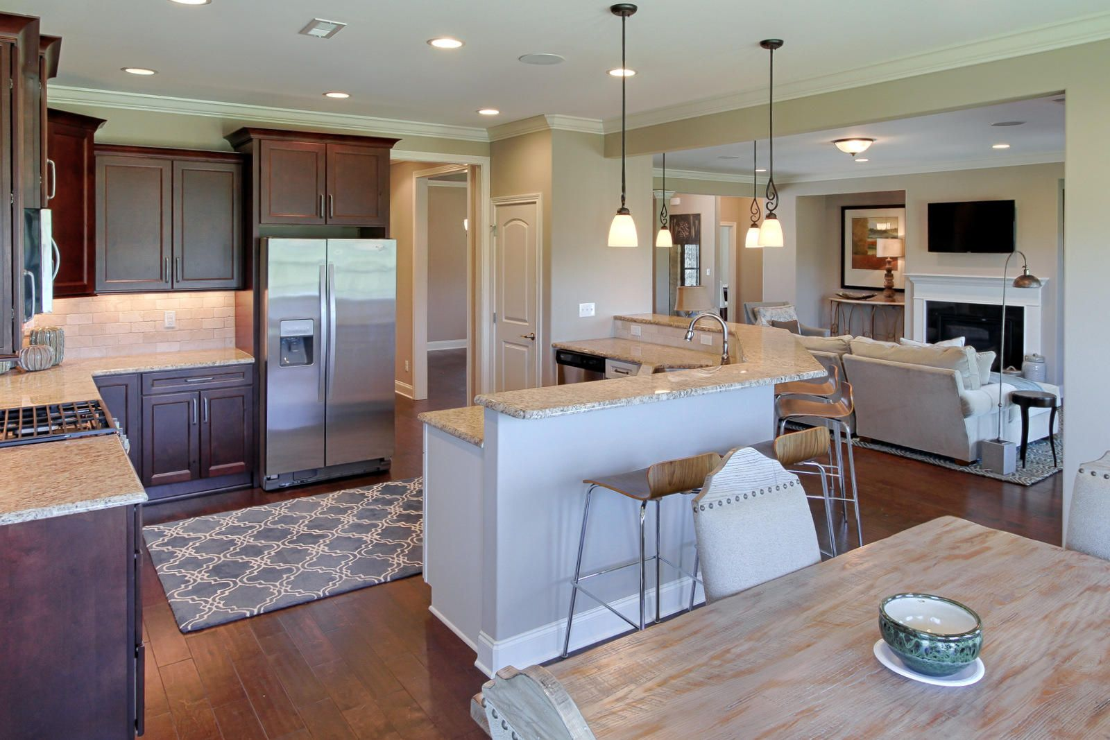 Kitchen Opens to Great Room