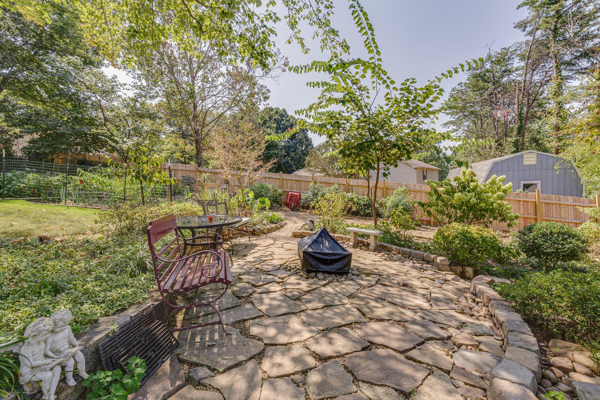 back yard garden 1