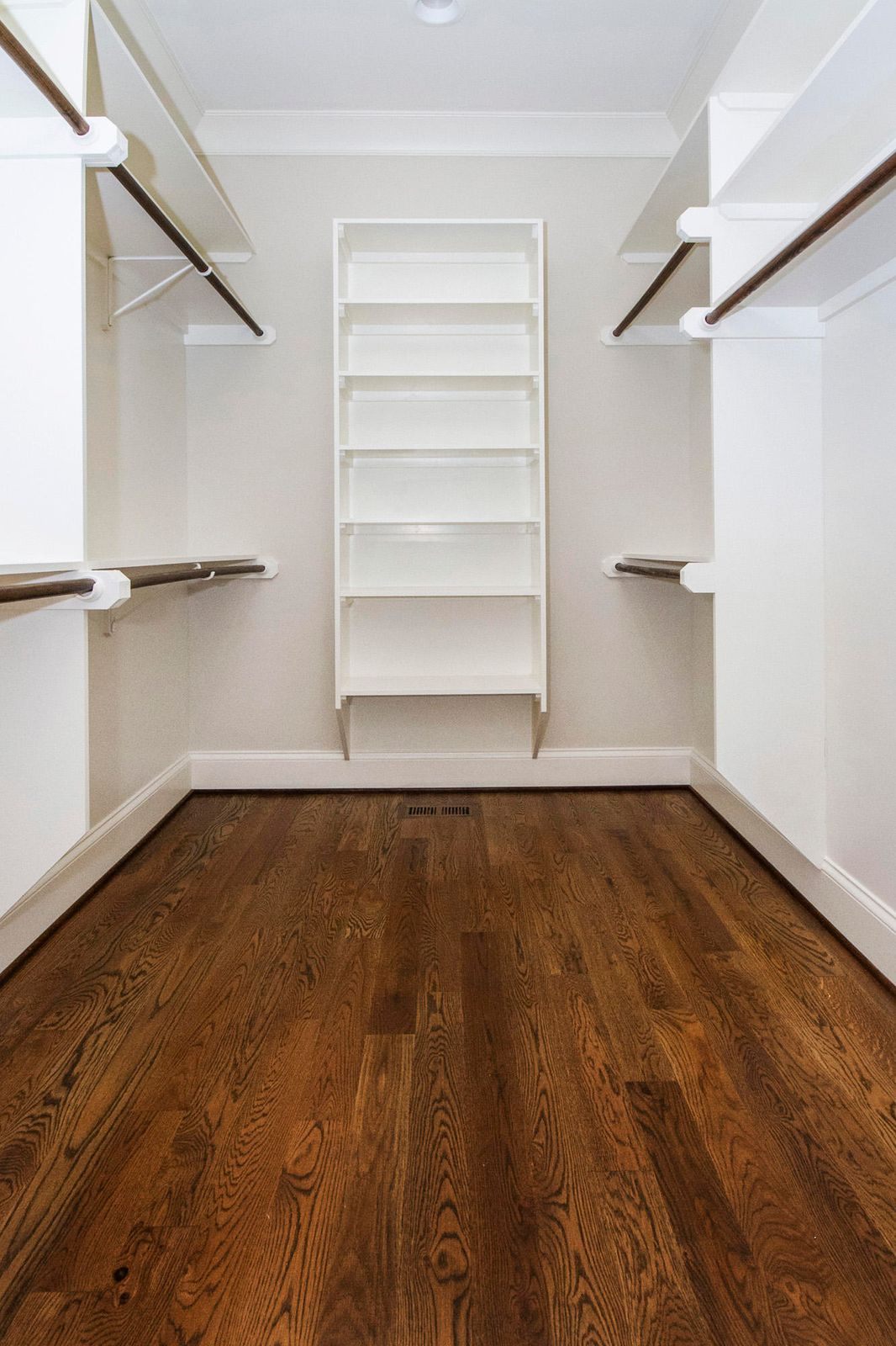 Closets with solid shelving