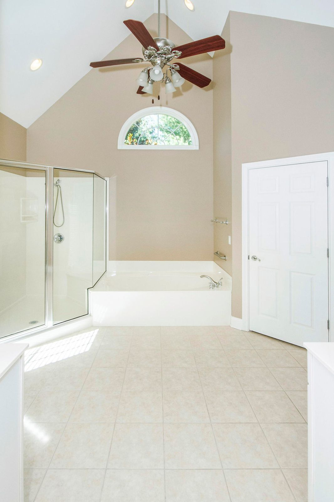 Vaulted Ceiling in Master bathroom