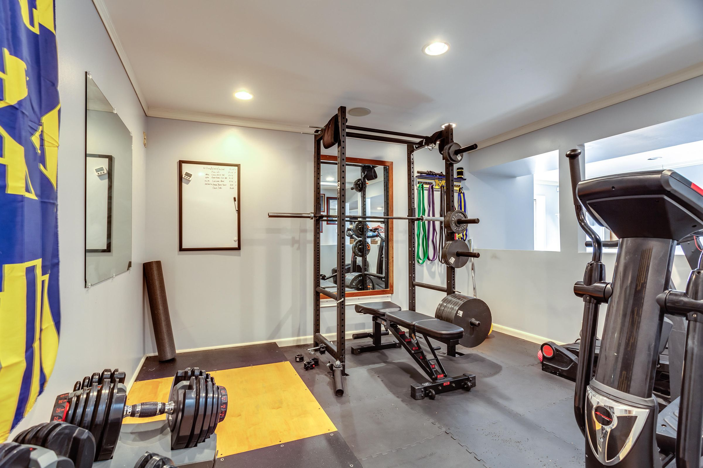 Workout Room in Basement