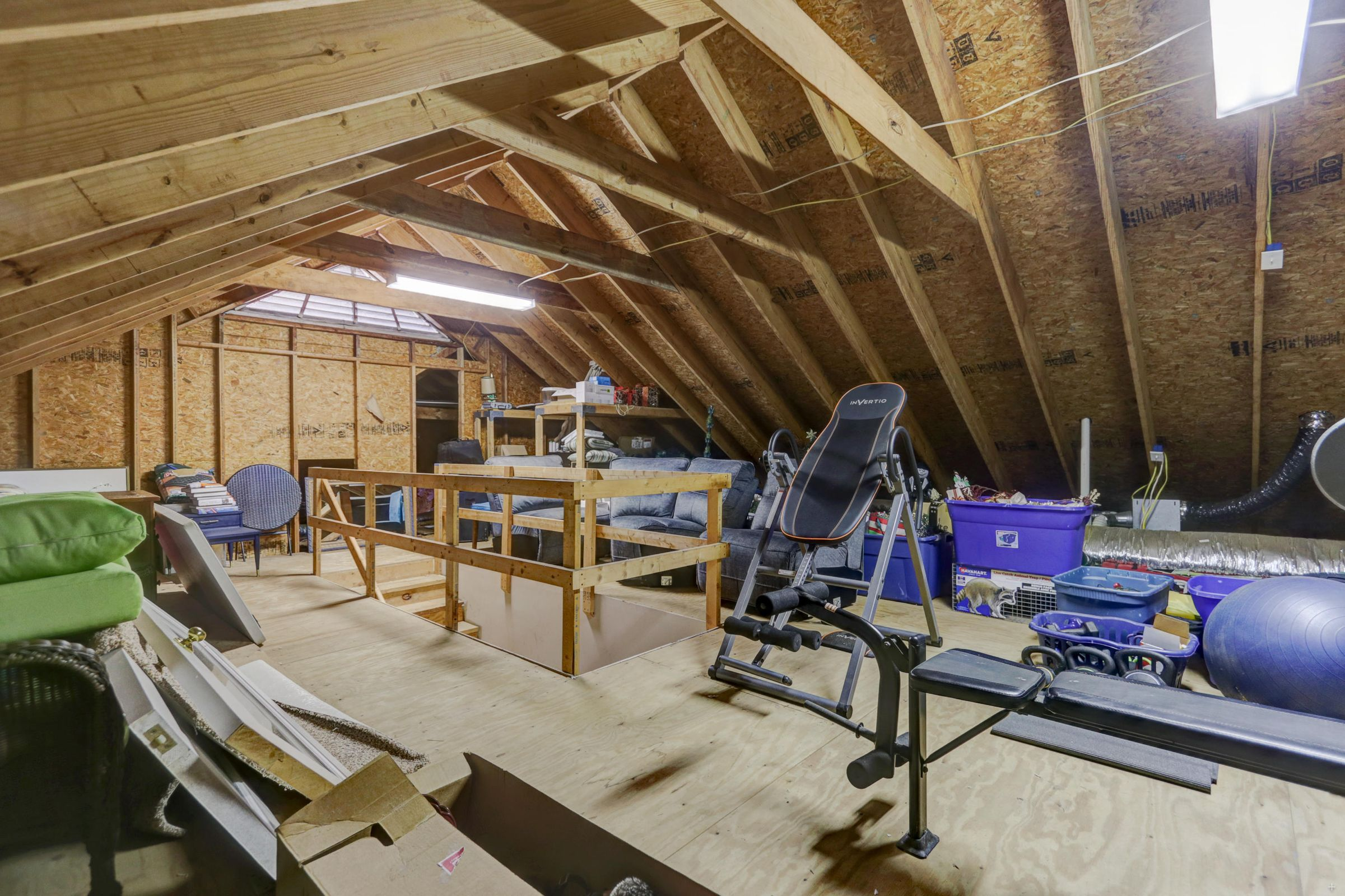 Huge Walk-Up Attic Storage