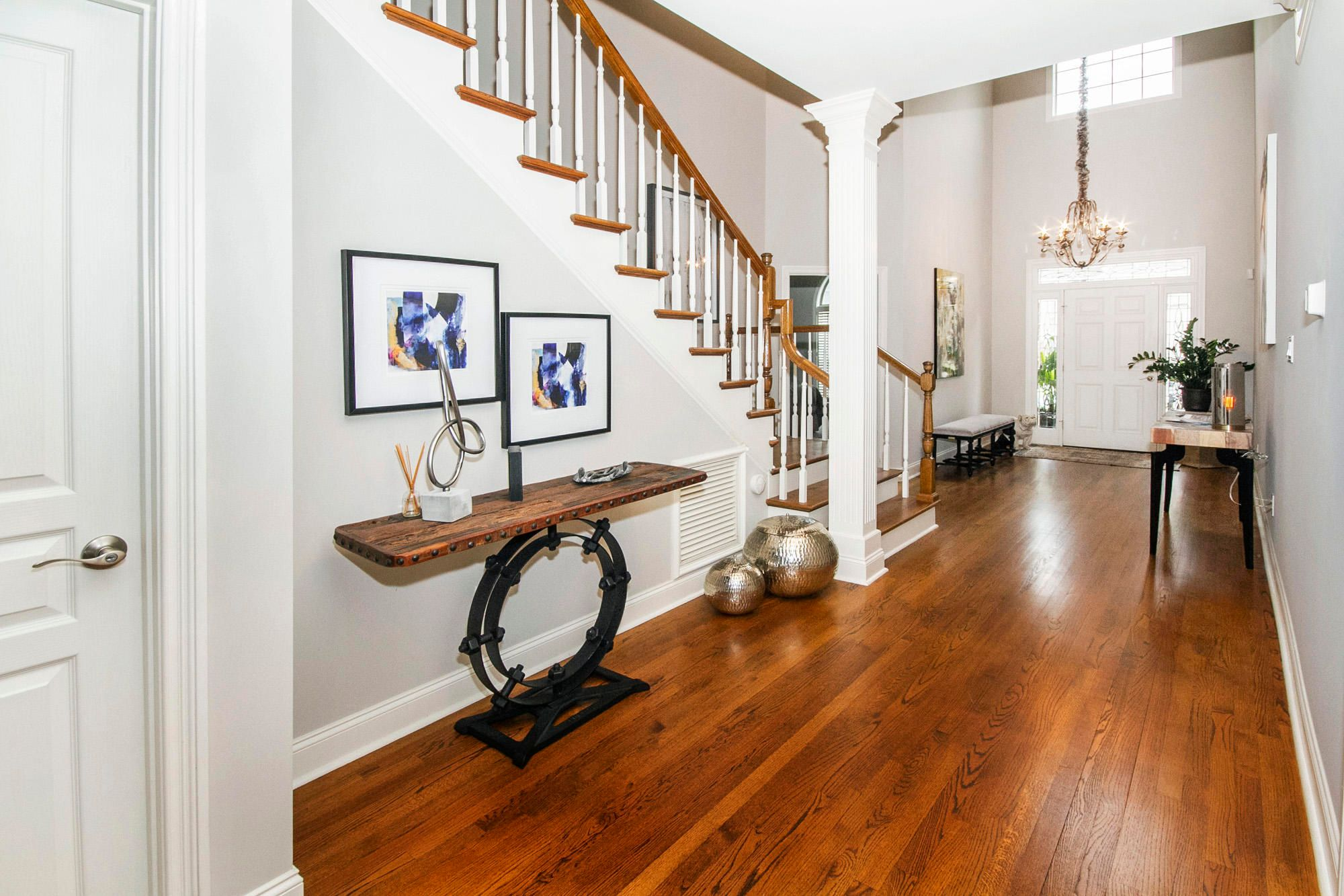 Wide two story foyer