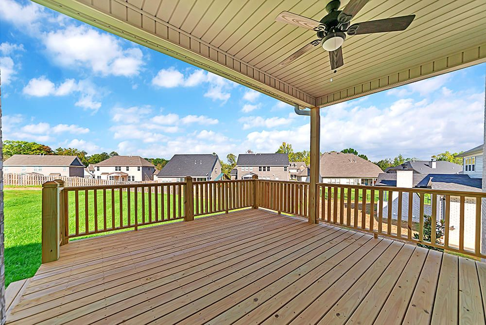 Covered proch and extended deck