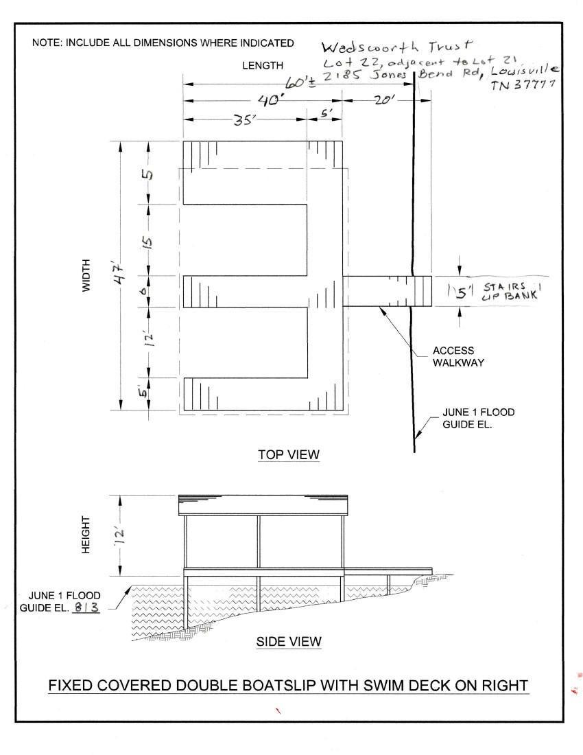 TVA Boatslip Drawing