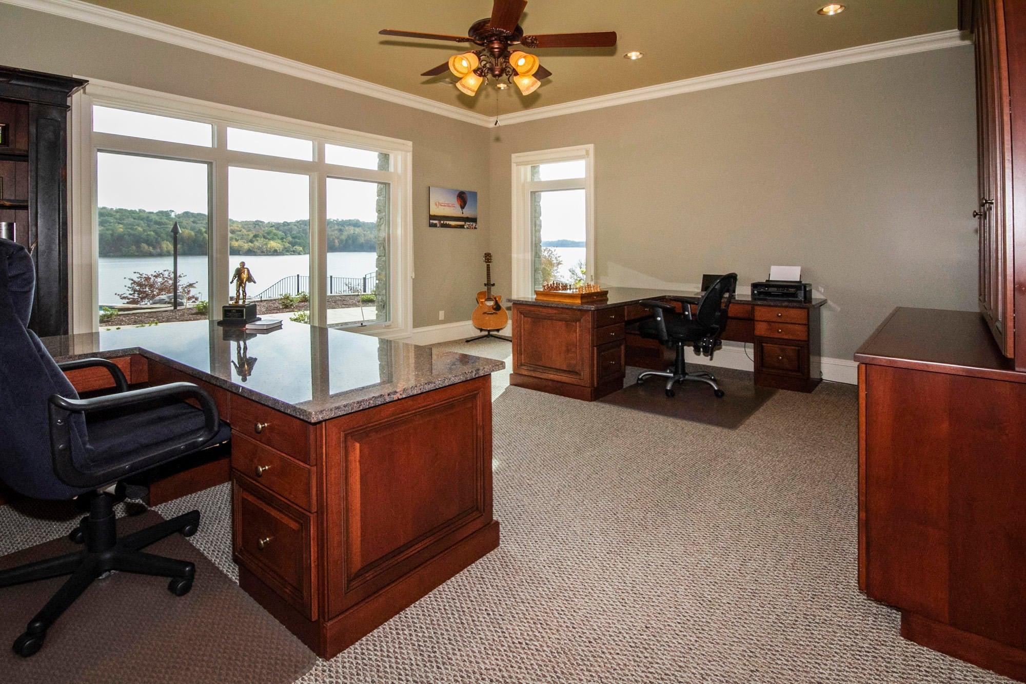 Lake & Pool View Office!
