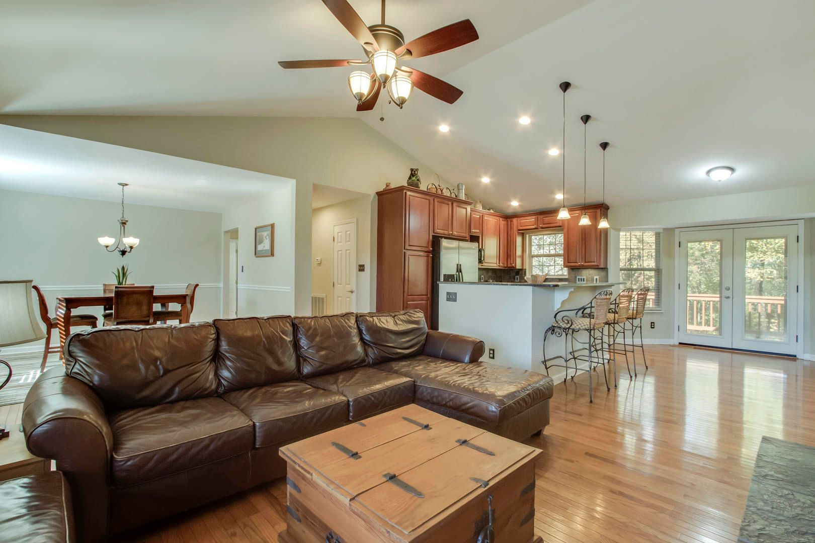 Open Floor Plan with Hardwood Throughout