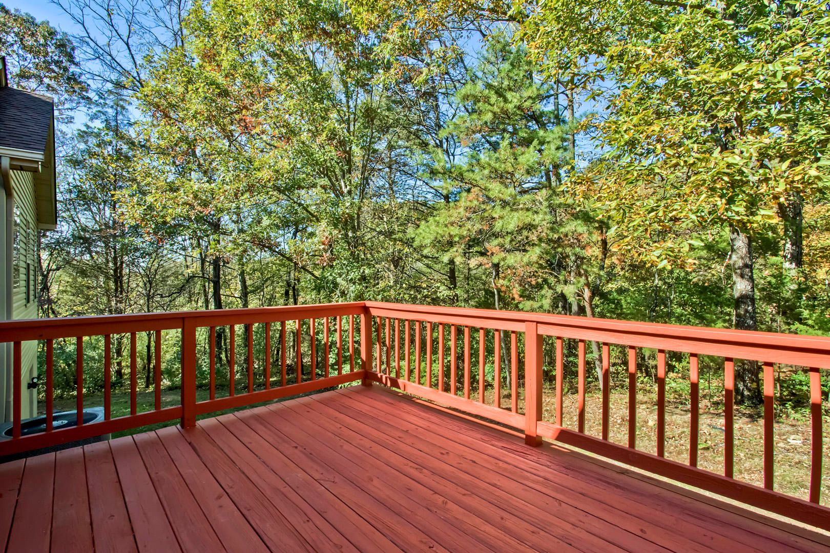 Rear Deck Wooded View