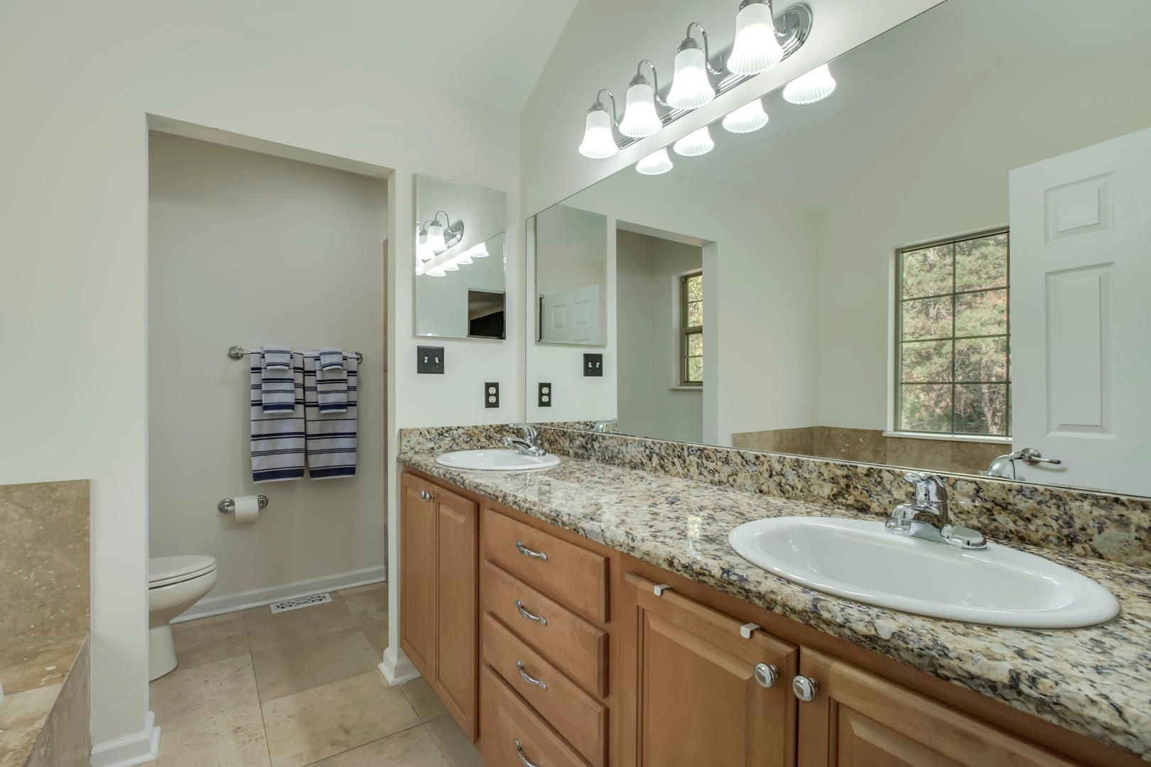 Master Bathroom Updated with Granite