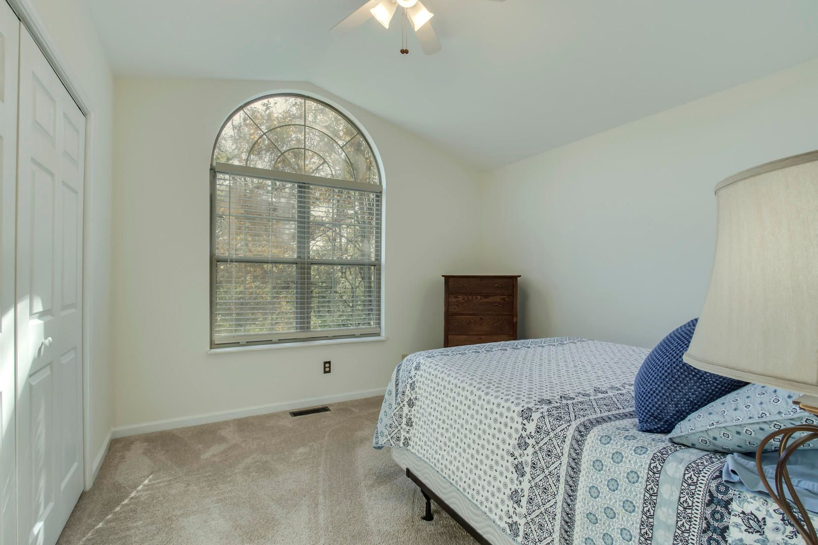 Guest Bedroom with Cathedral Ceiling