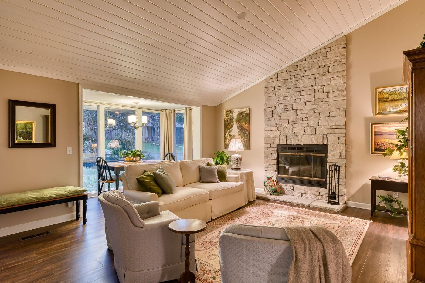 Great Room & fireplace