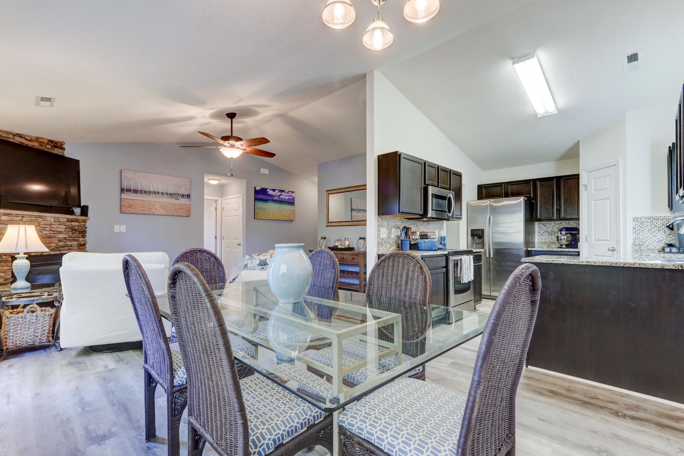 Dining into Kitchen/Living