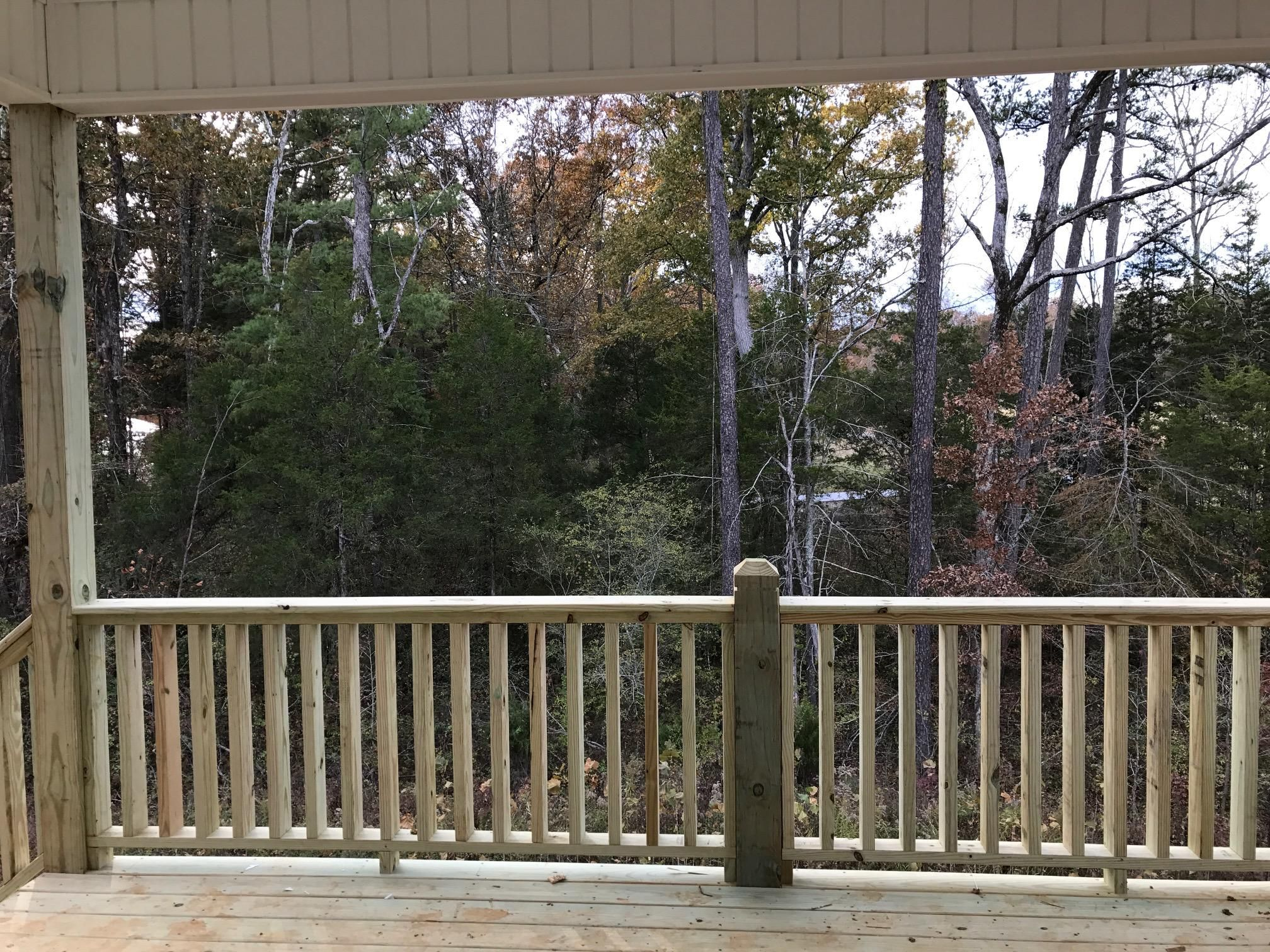 View from covered porch