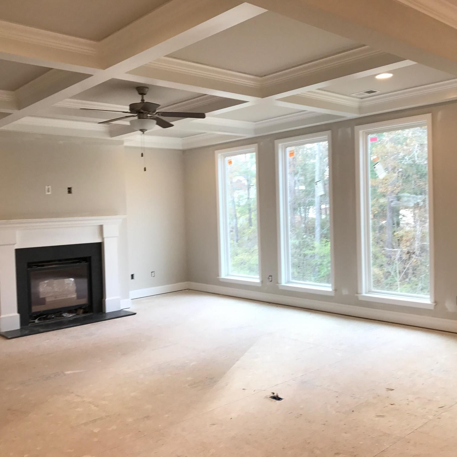 Great room with 7' windows!