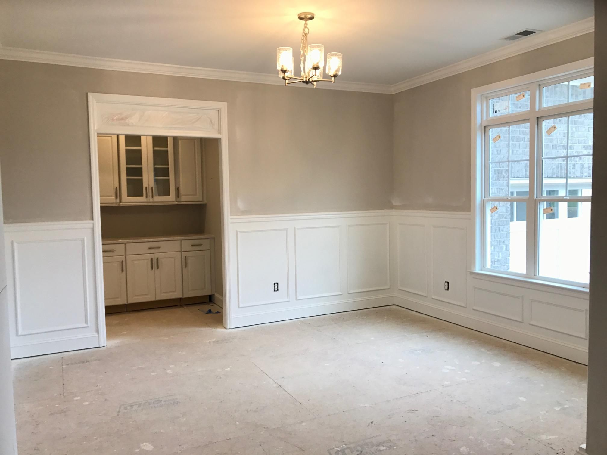 Dining room w/Butlers pantry in hallway