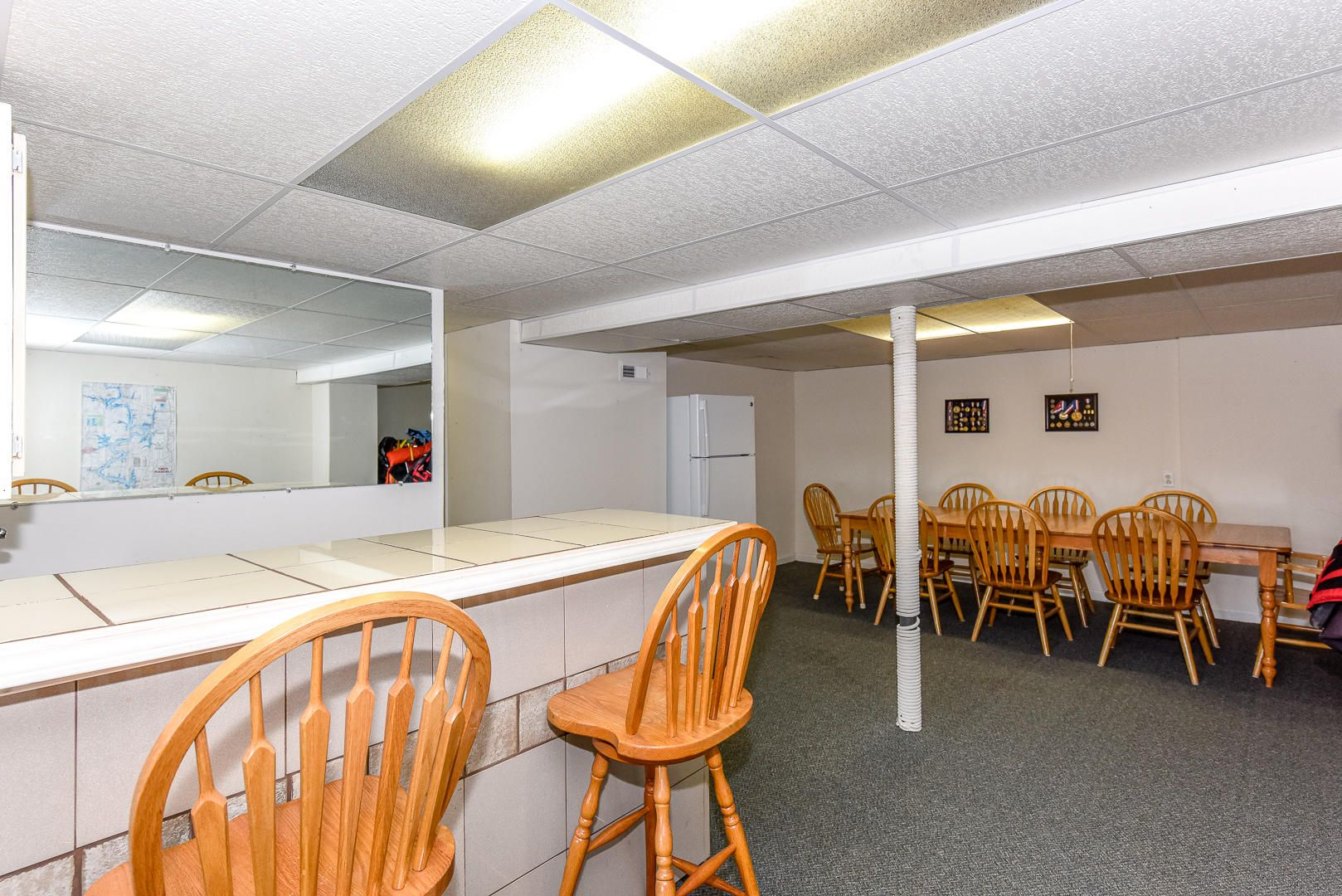 Basement kitchen/dining area