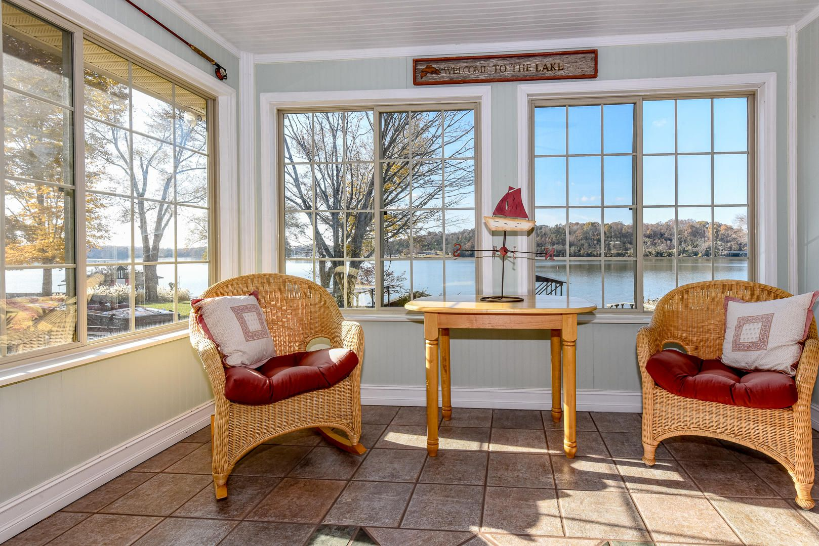 Relax and enjoy views from the sunroom