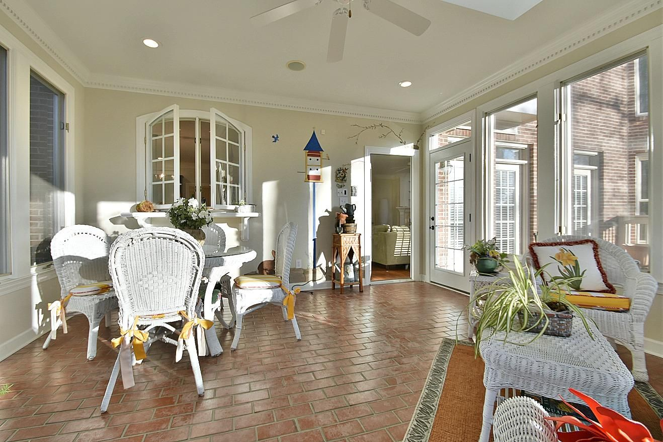Sunroom w/ Pass Thru Window to Kitchen