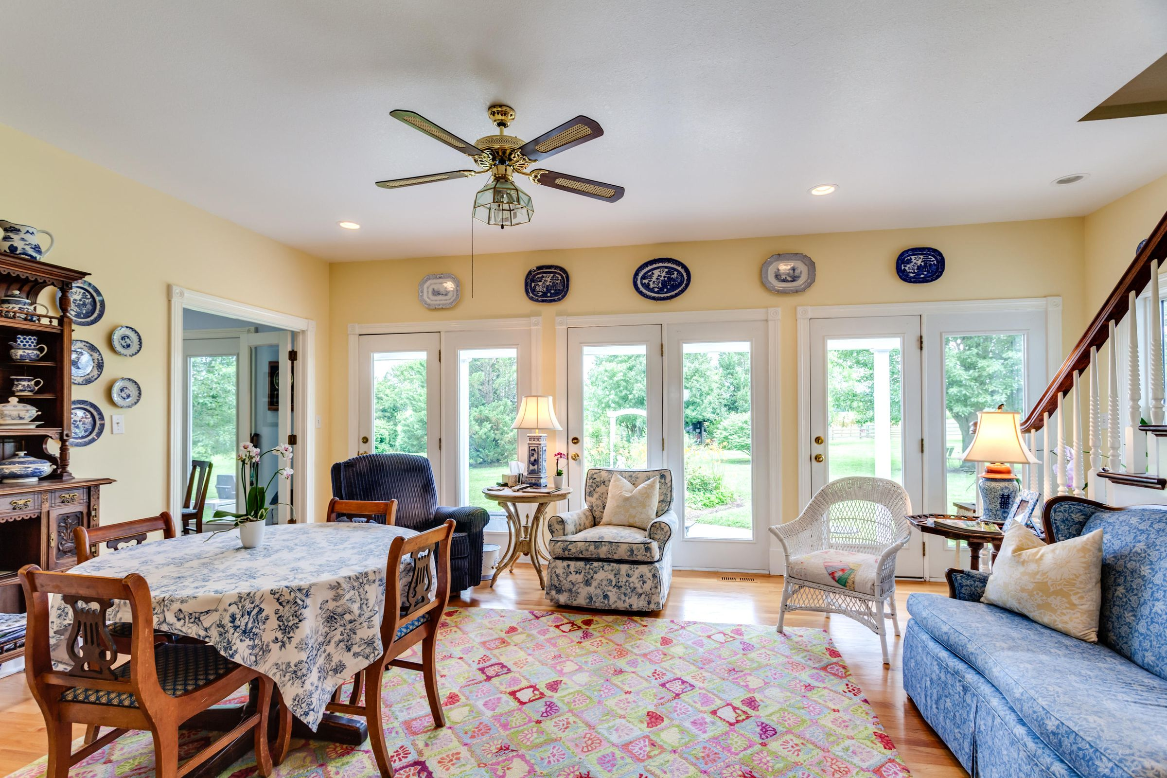 There's plenty of light in the sunroom!