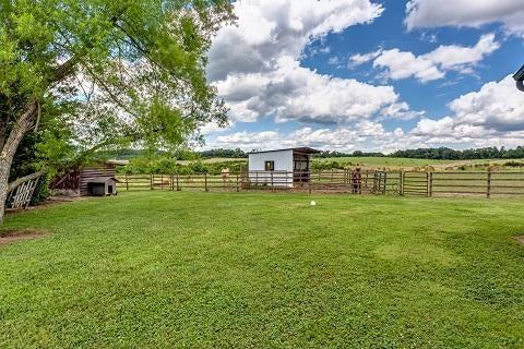 Between the garden & the barn