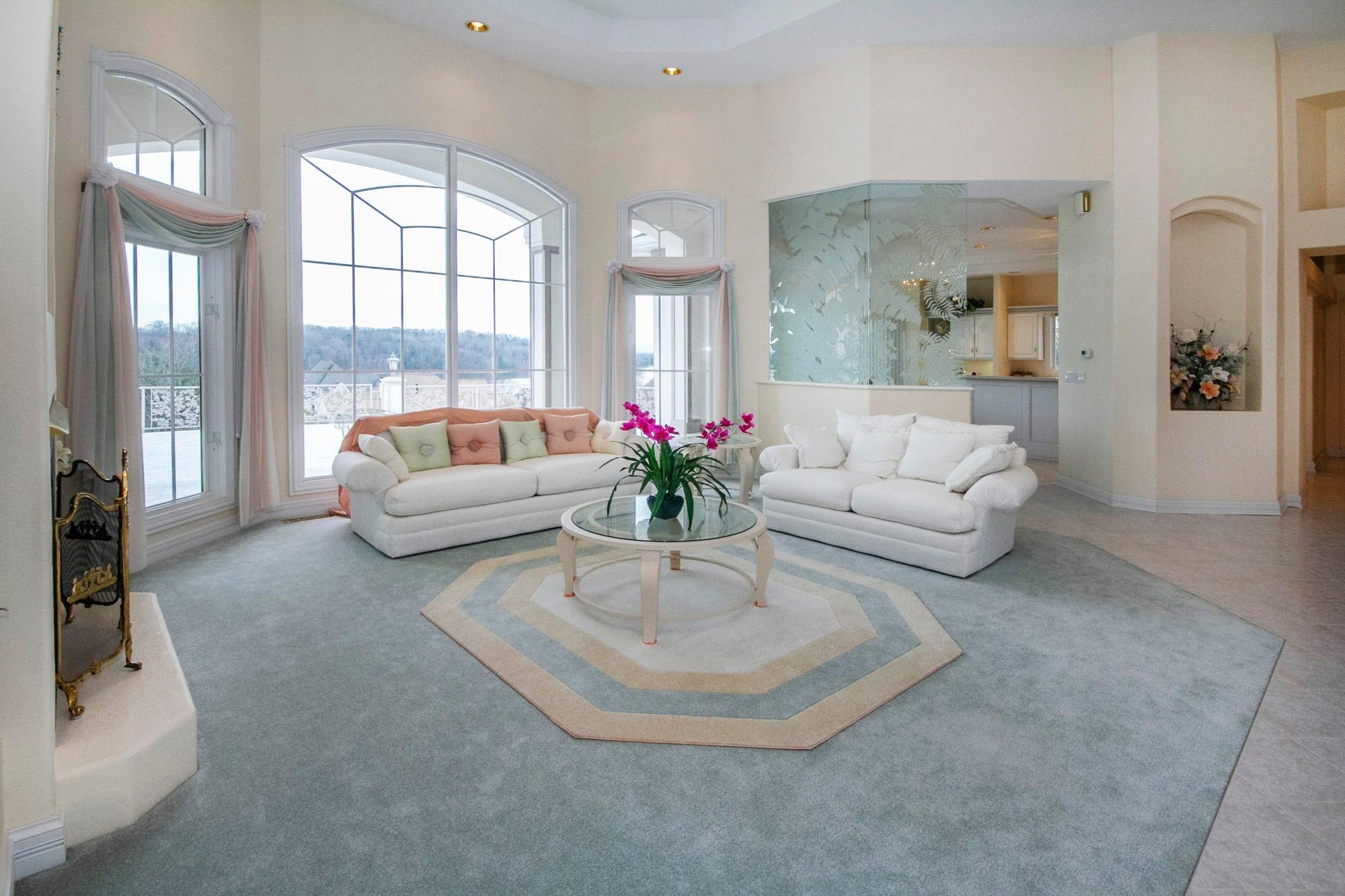 Living Room with Lake & Mountain Views!