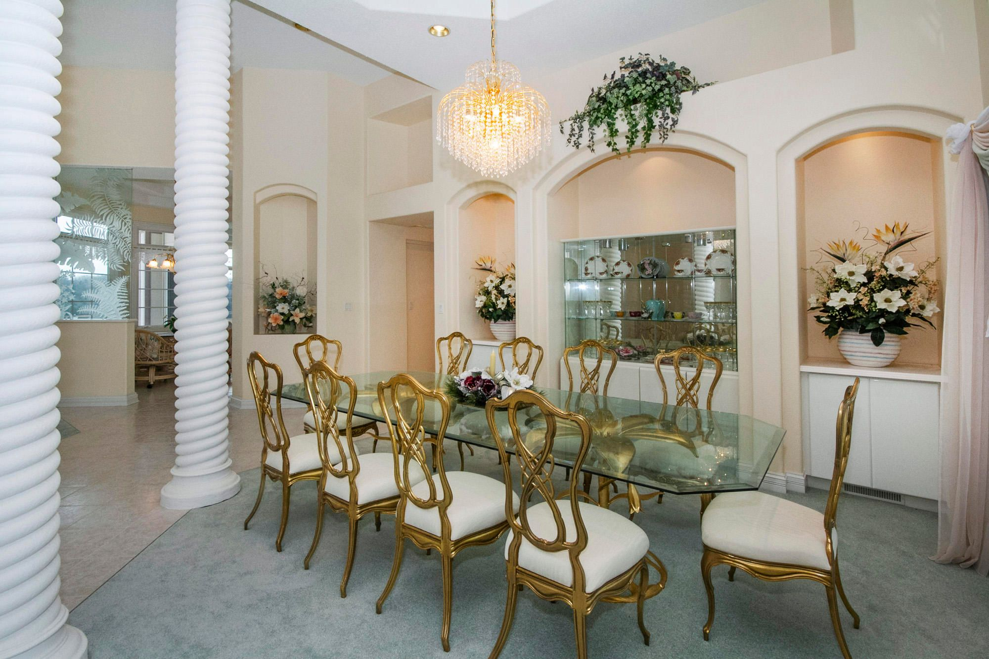 Dining with Arched Wall Niche Buffets
