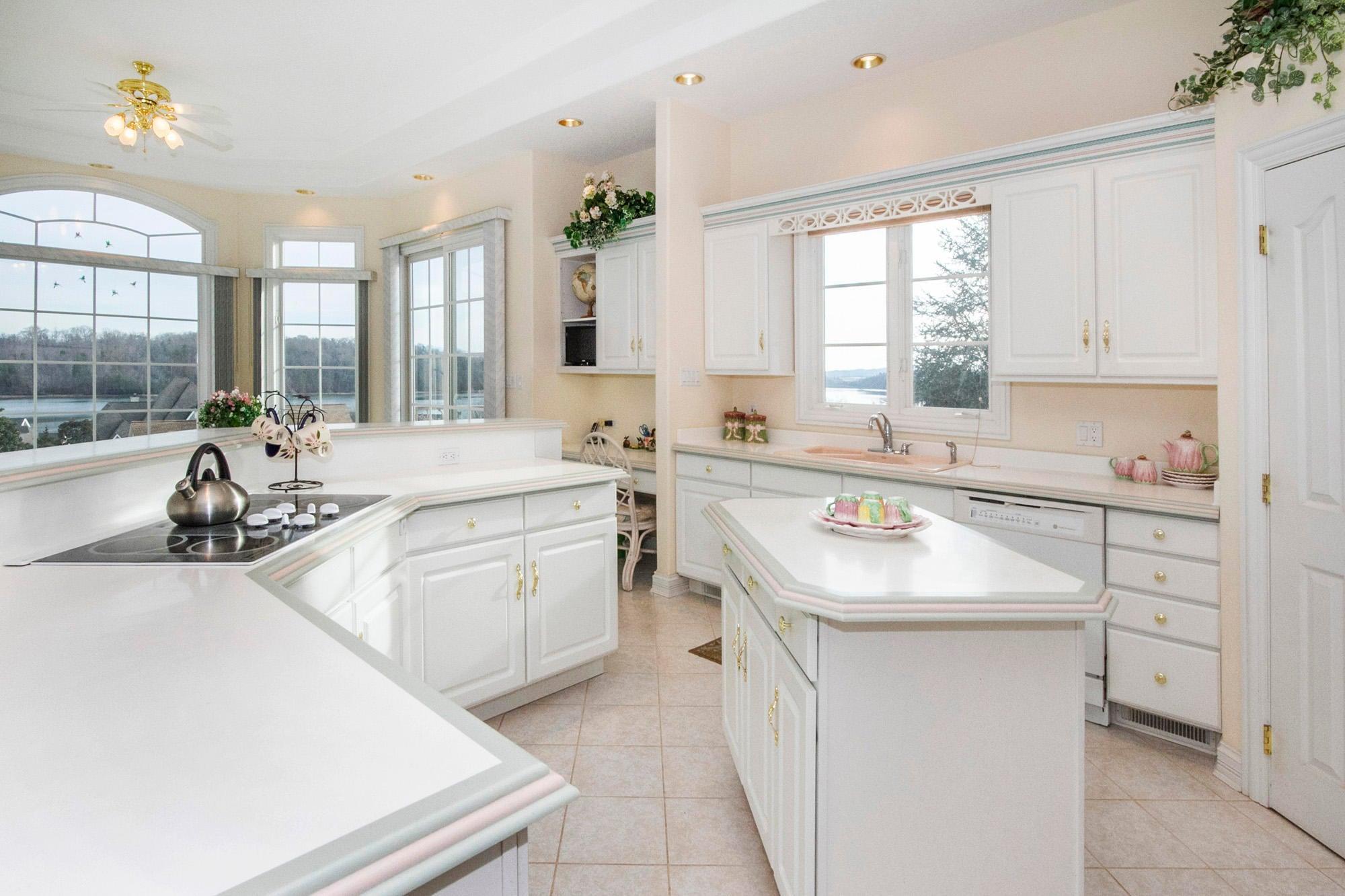 Kitchen with Lake & Mountain Views!