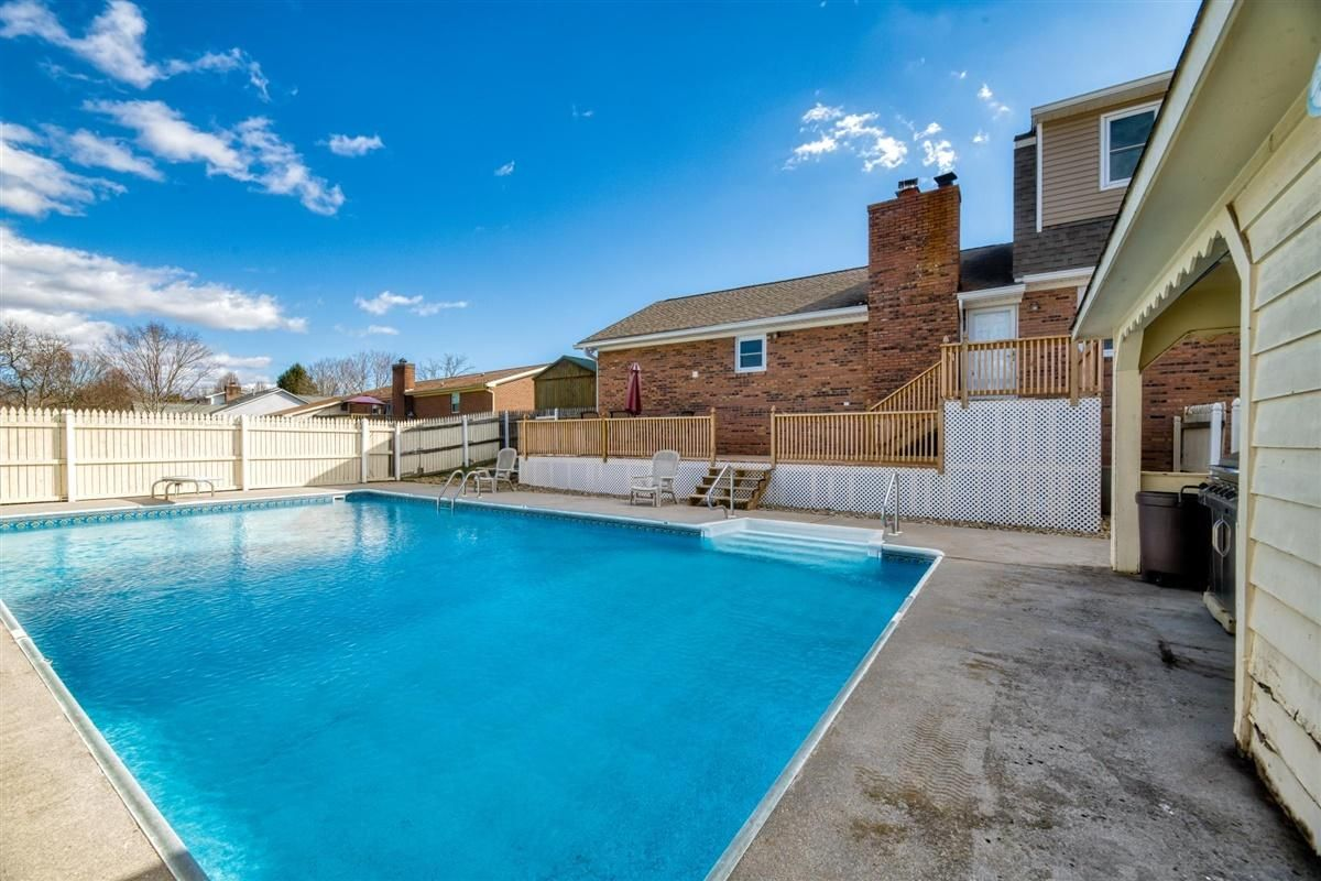 Back With Huge Deck and In-Ground Pool