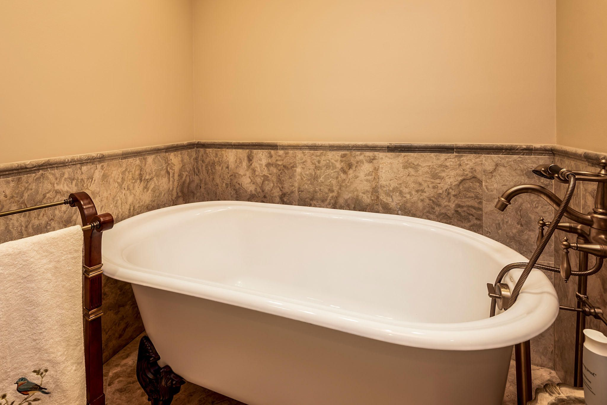 Relax in the Claw-Footed Soaking Tub