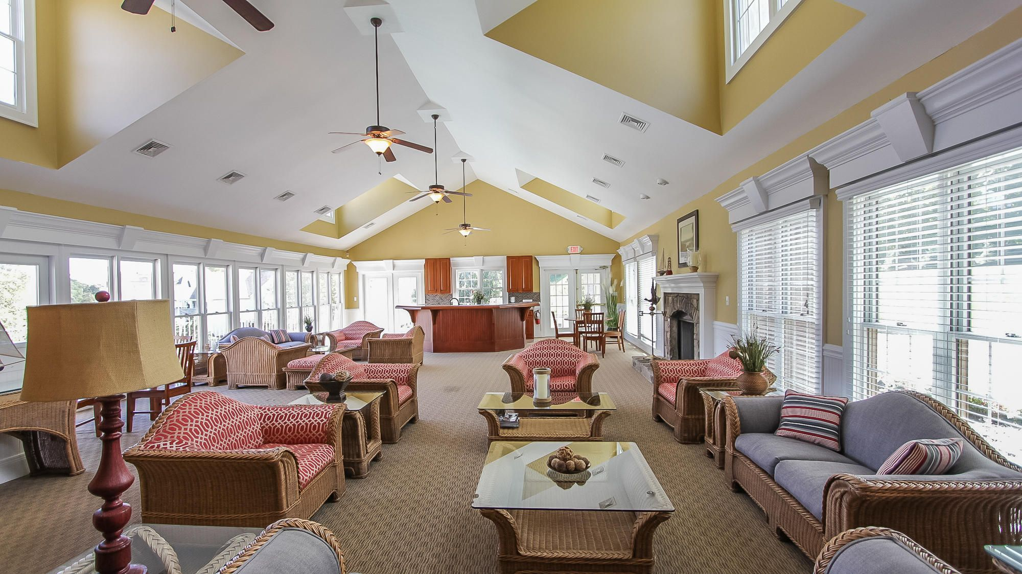 Inside the clubhouse main level.