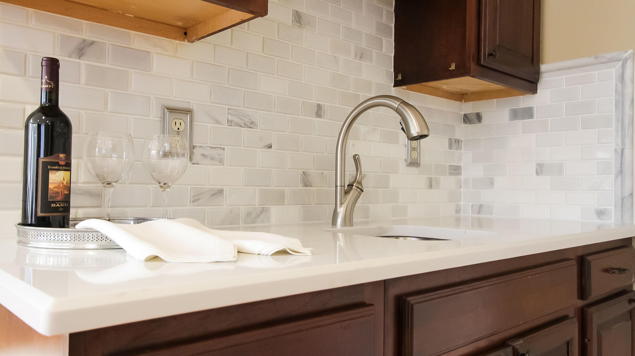 Separate wet bar, new sink and faucet.
