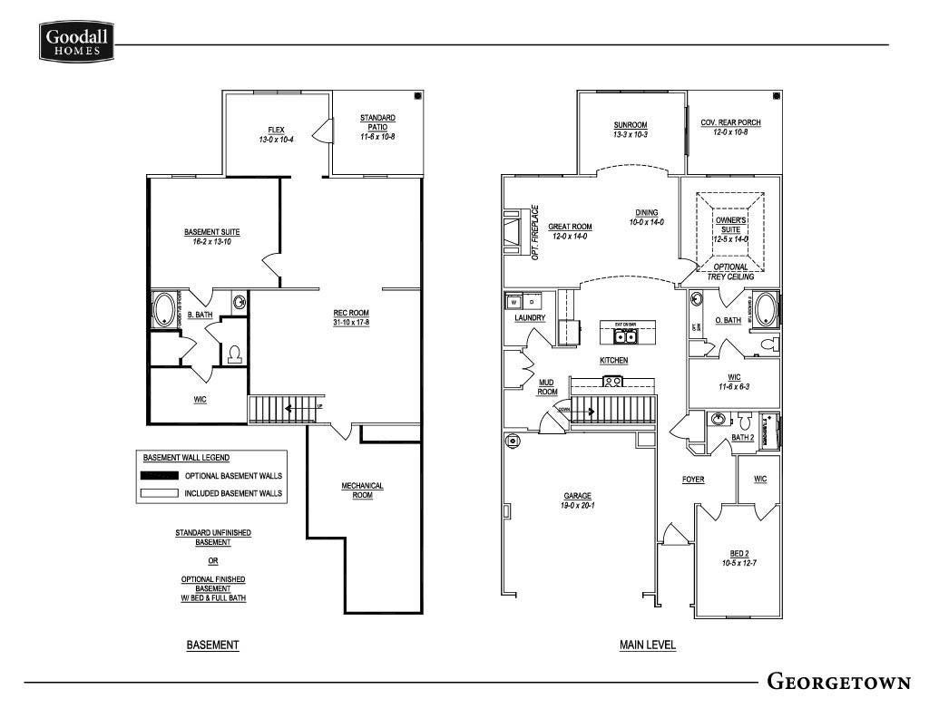 Georgetown Basement Floor Plan