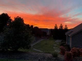 Sunrise from yard