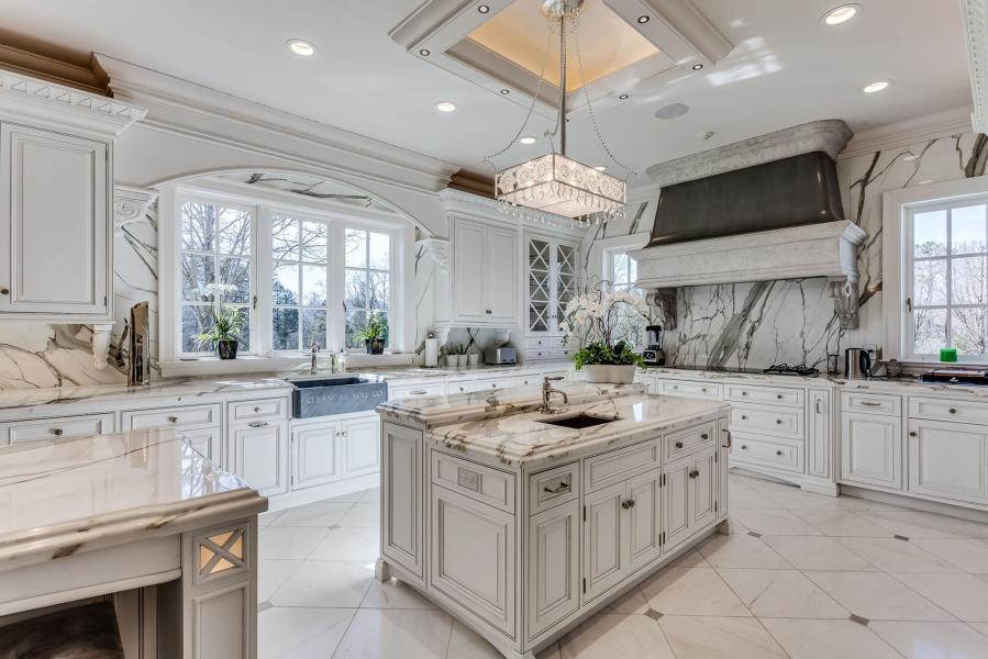 kitchen with oversized sub zero