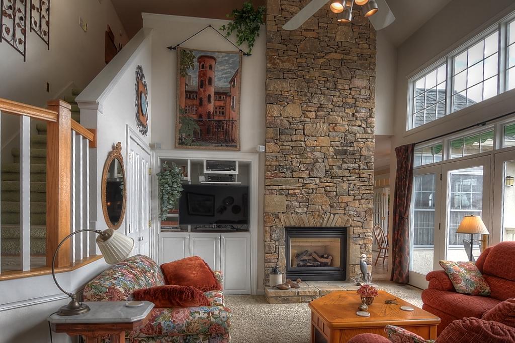 Gorgeous Stone Fireplace
