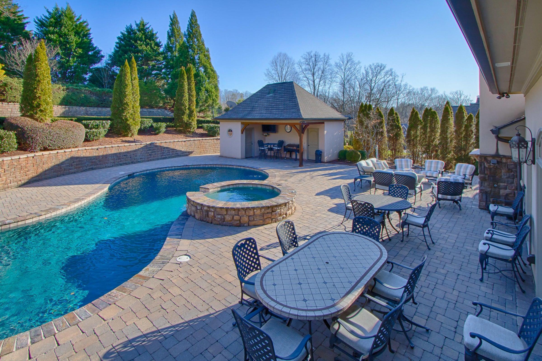cabana house and pool