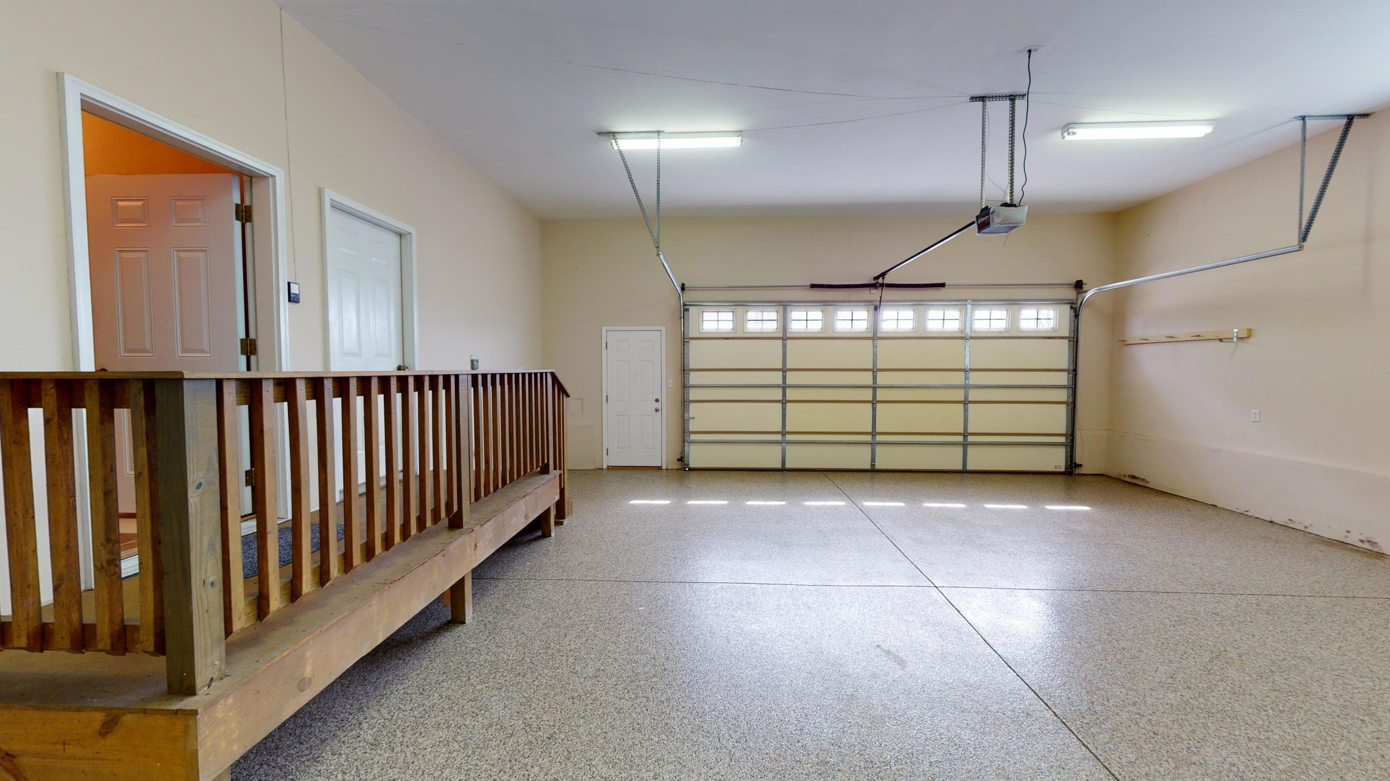 spacious garage with storage