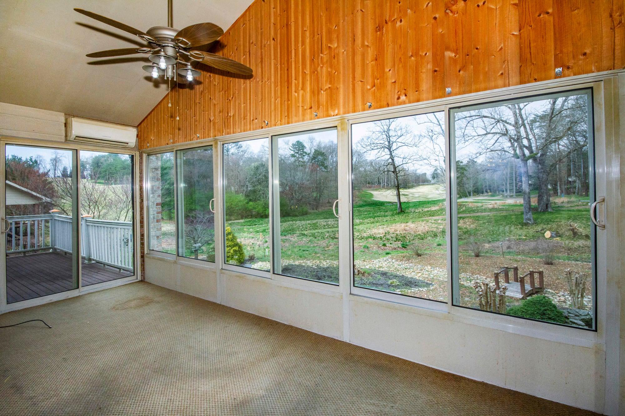 Sunroom with Wide & Long Golf Views!!