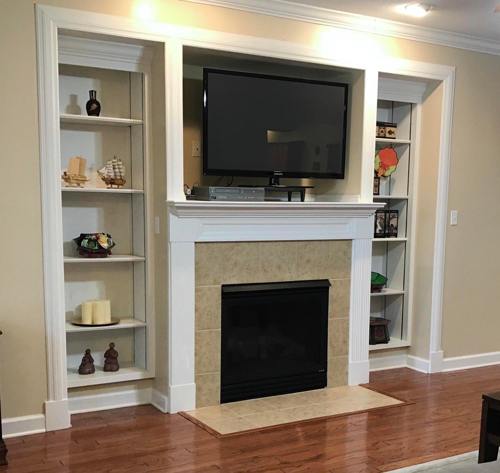 Fireplace w/ Built-Ins