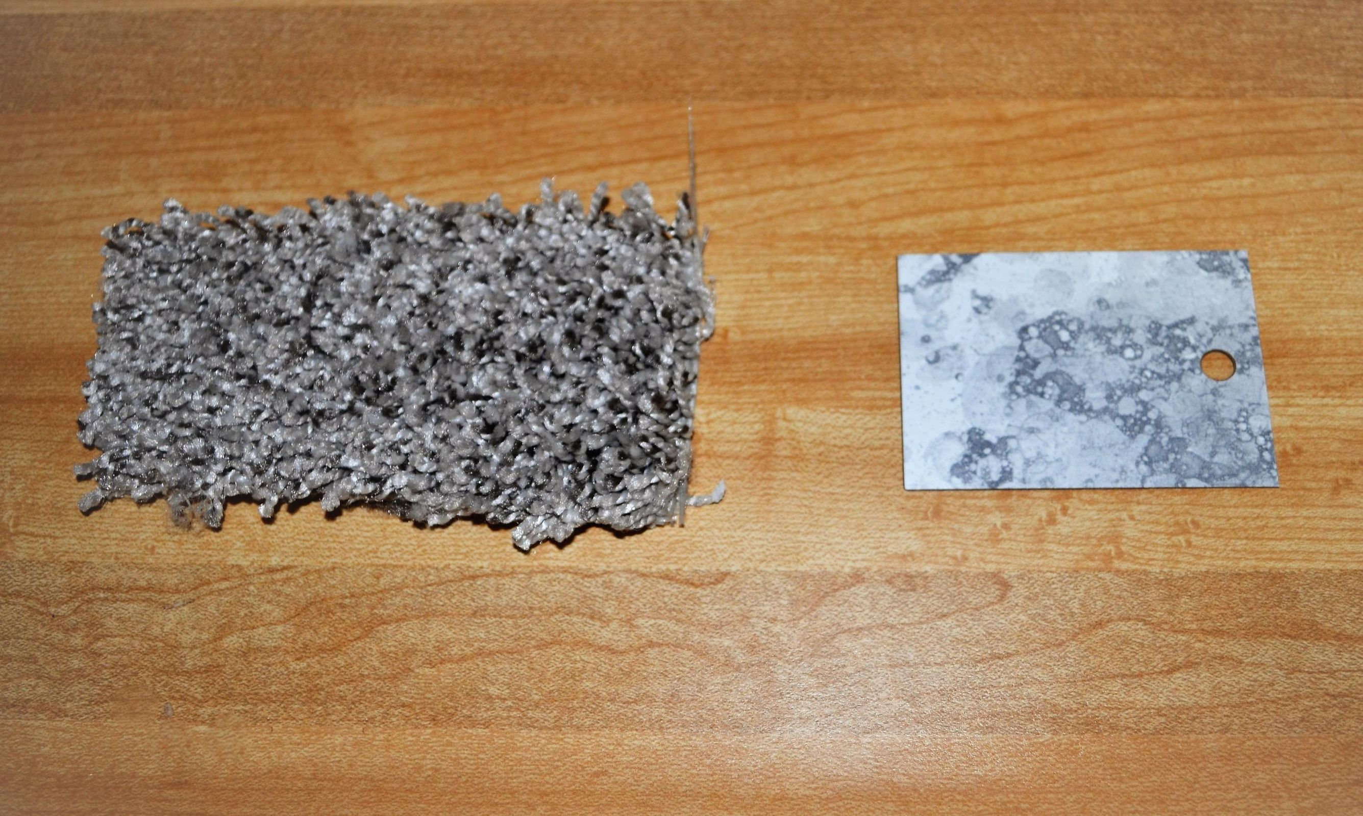 carpet and counter samples