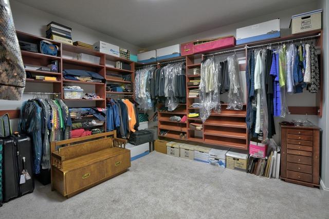 Lower storage closet
