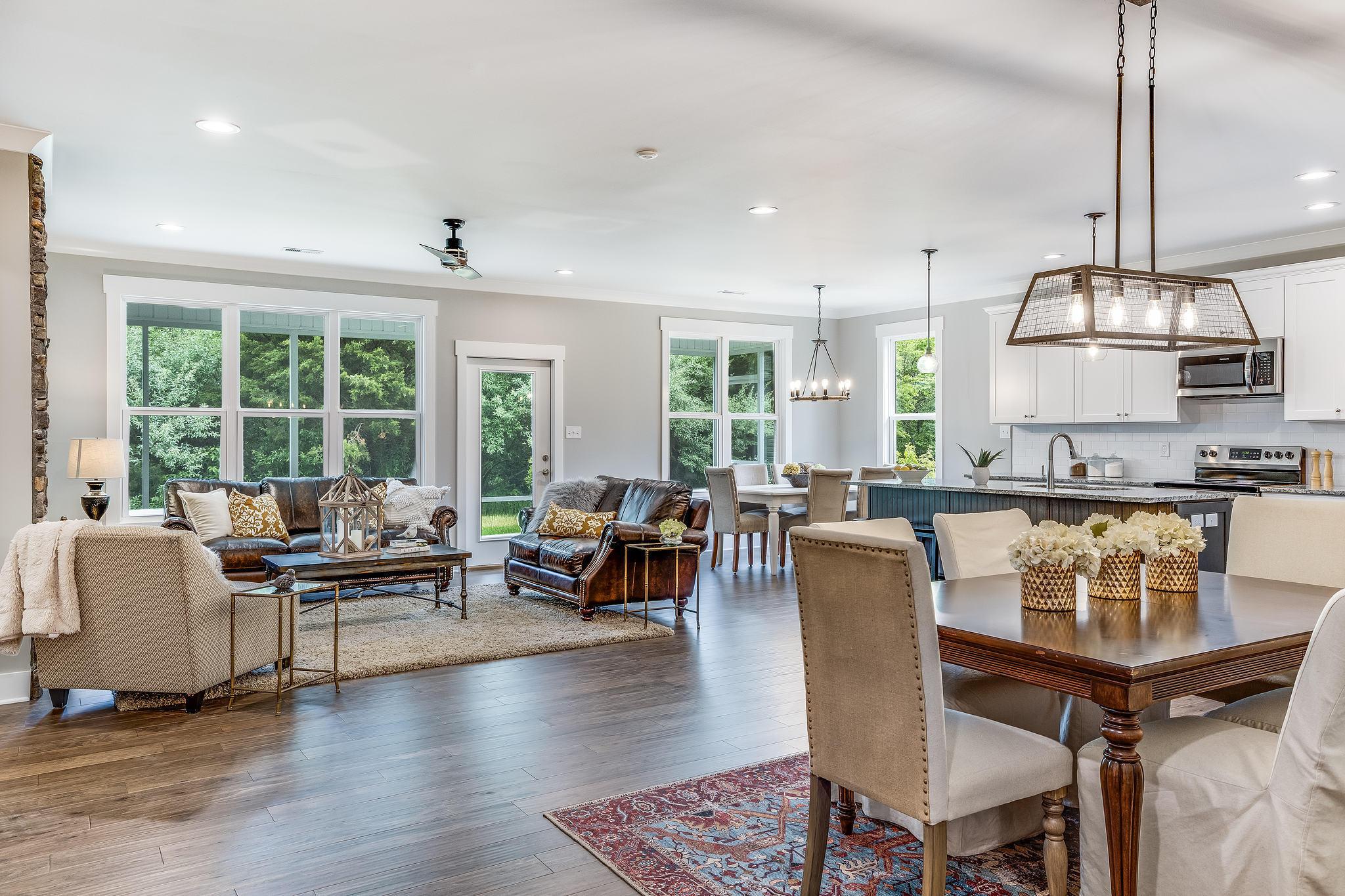 Captivating, open floor plan