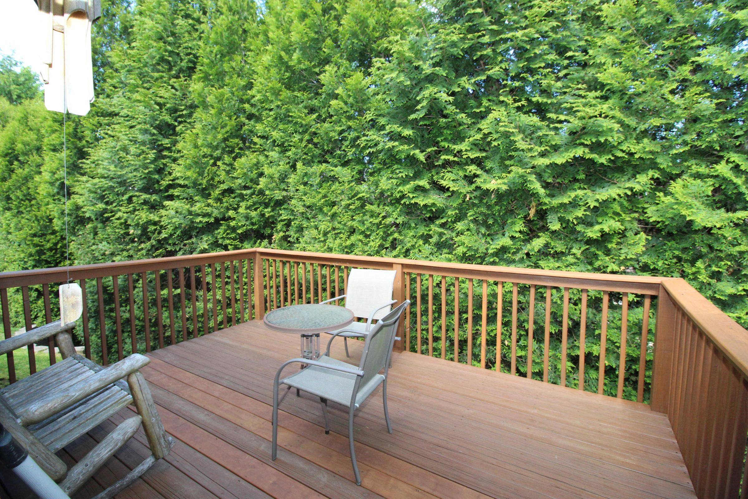 Private back yard decking