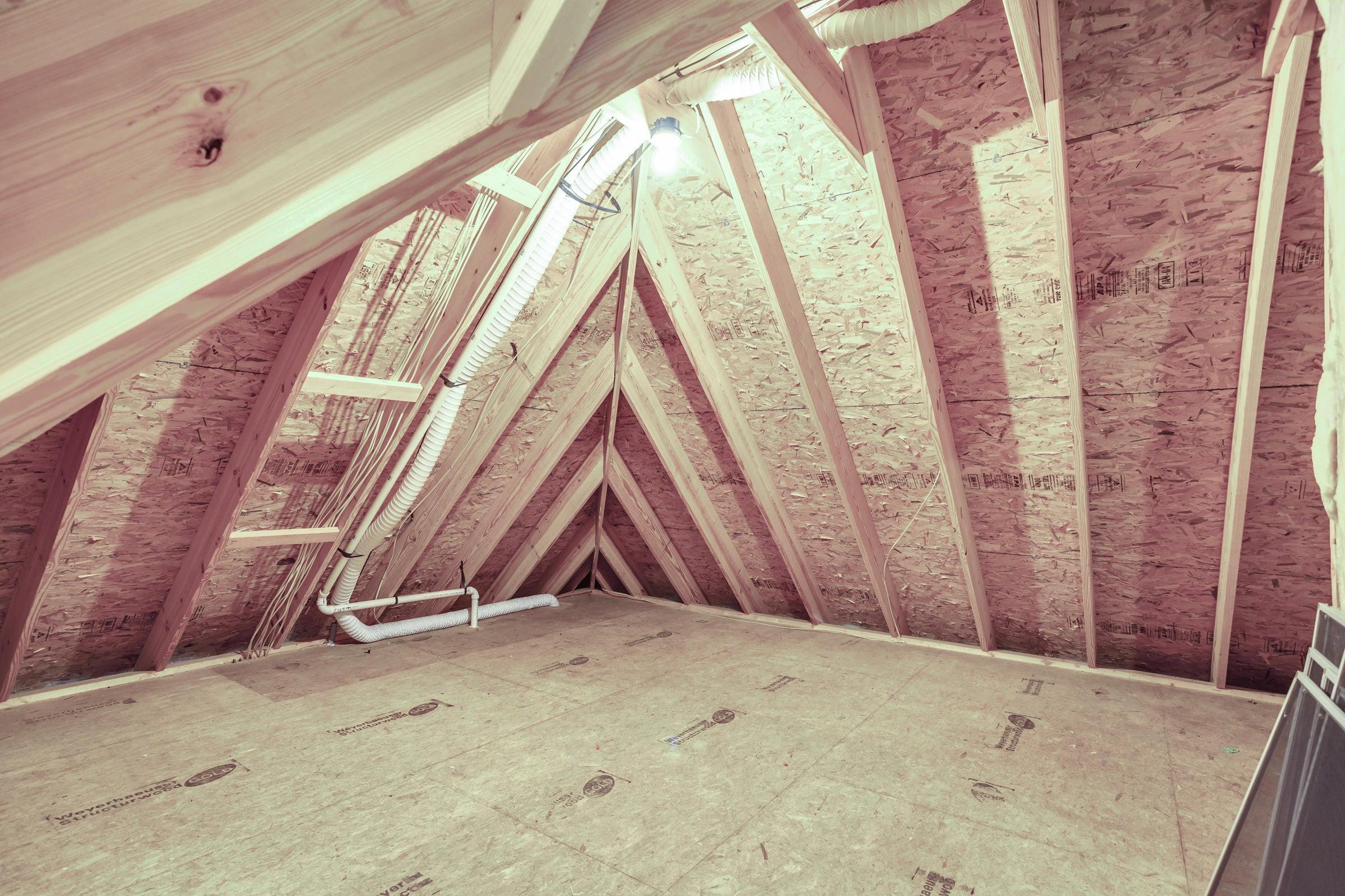 Walk in attic
