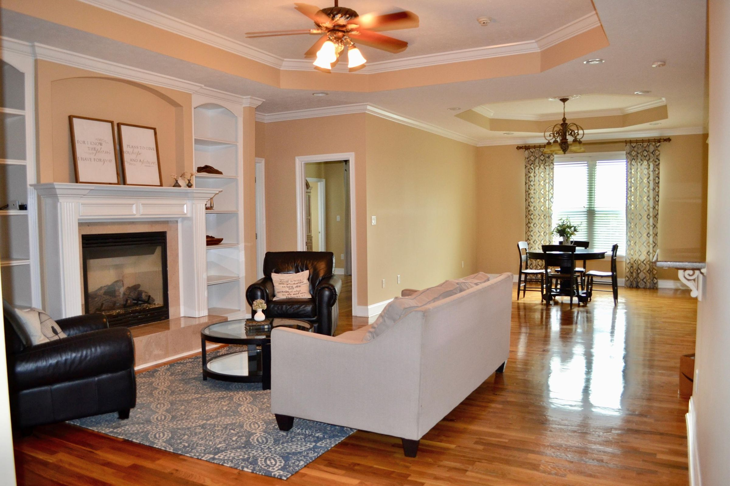 family room into casual dining