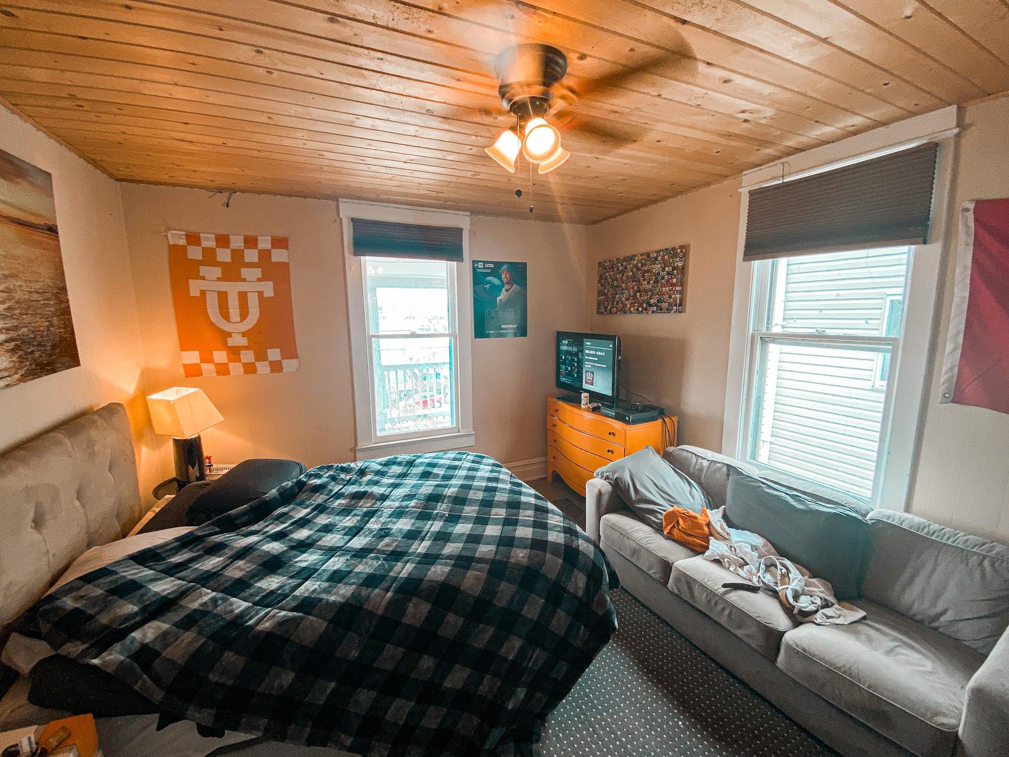 Bedroom in Unit 1
