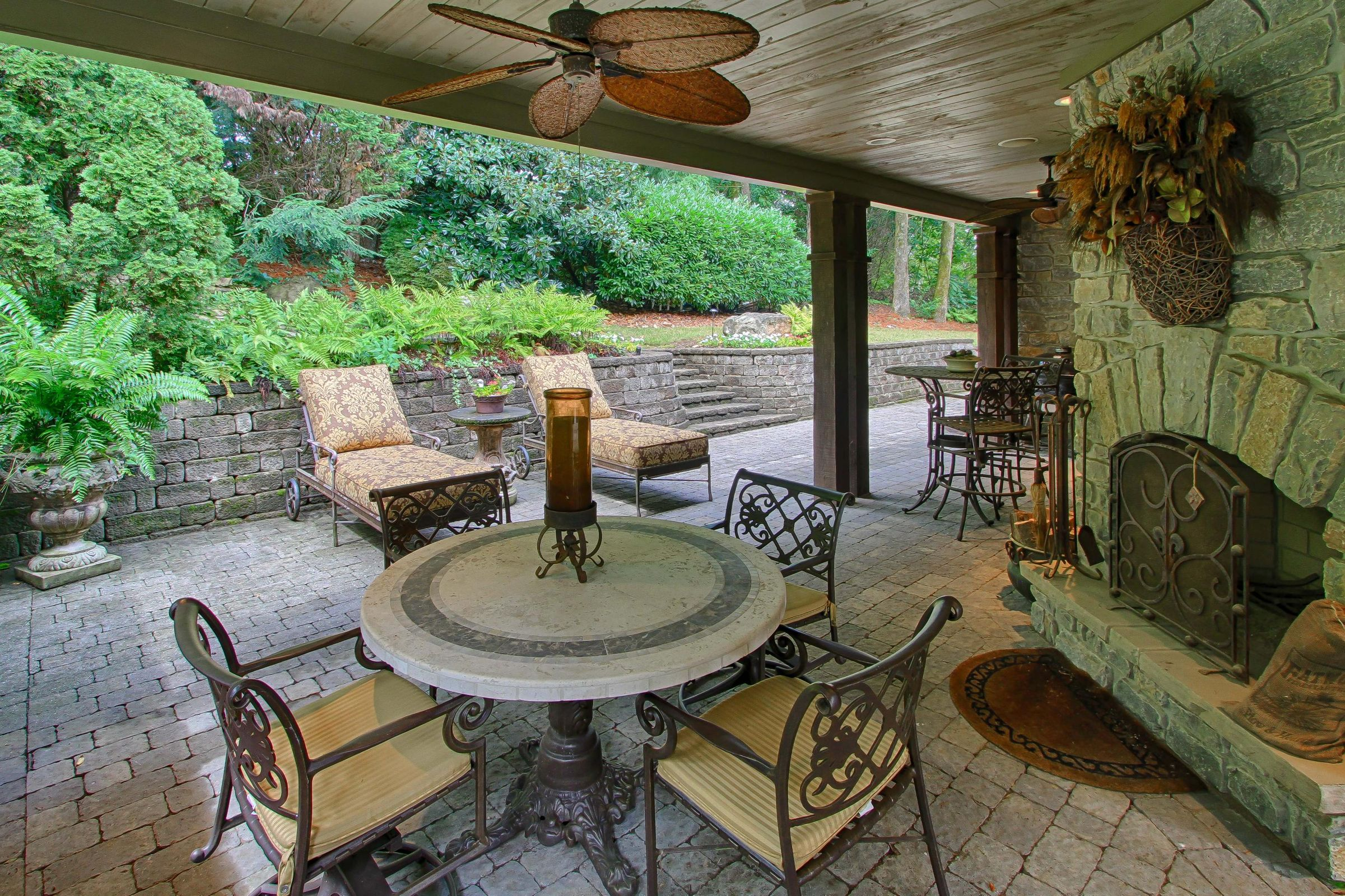 covered porch view
