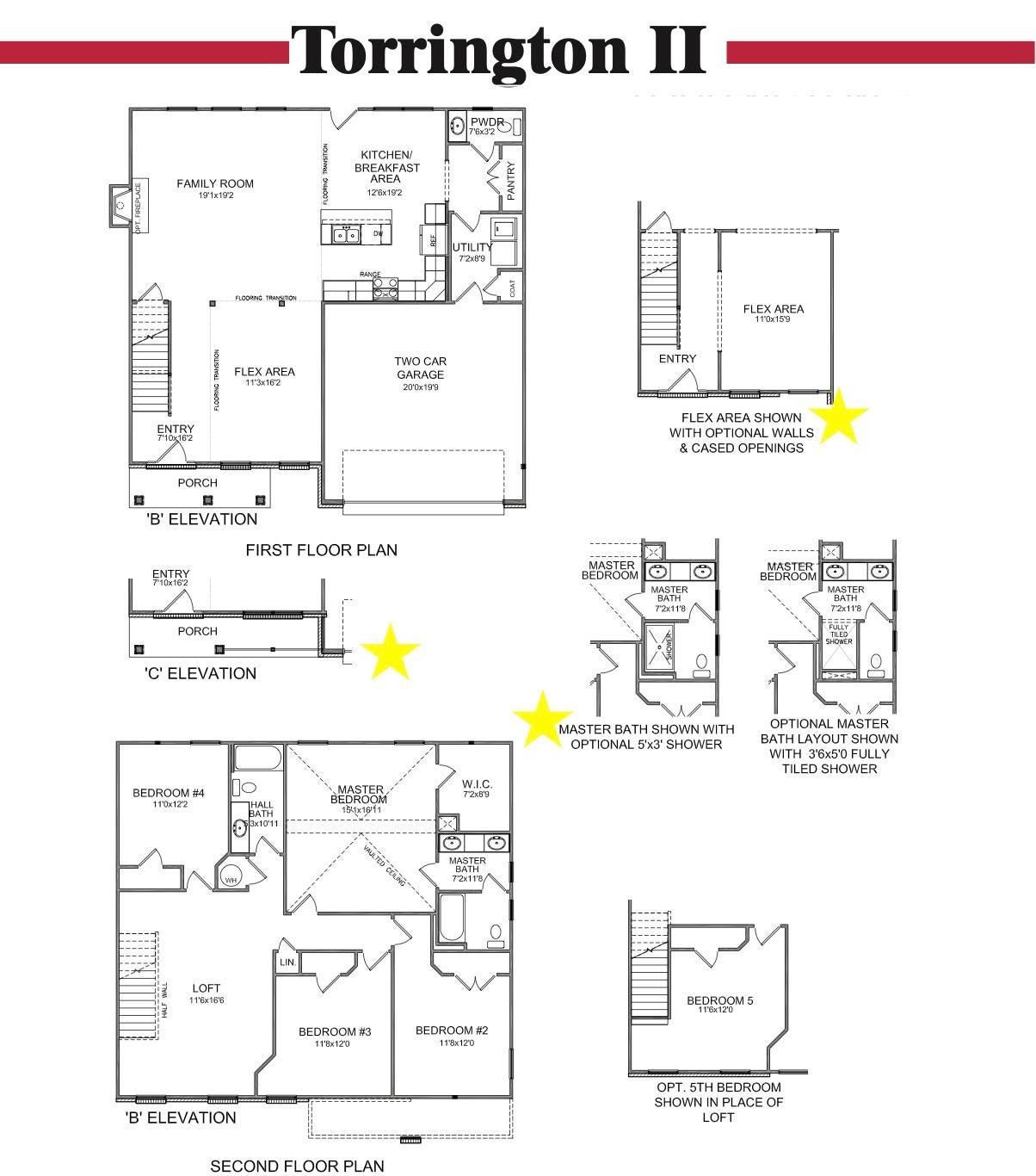 Torrington II Floor Plan-MLS