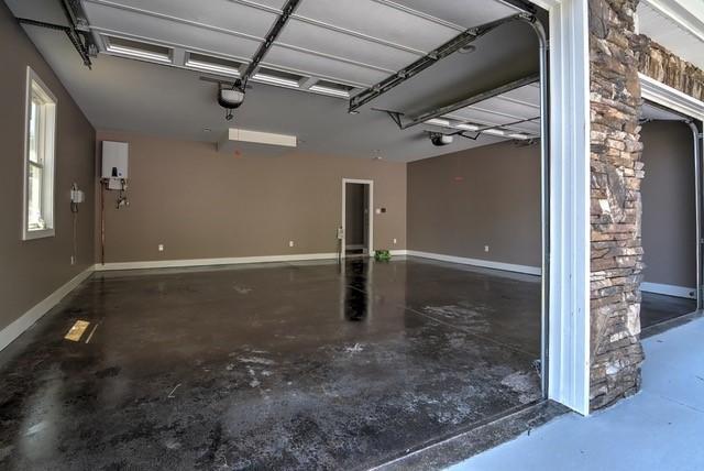 Stained Garage Floor